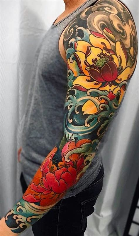 Tattoo Trends - Crashing water and clouds neo-traditional