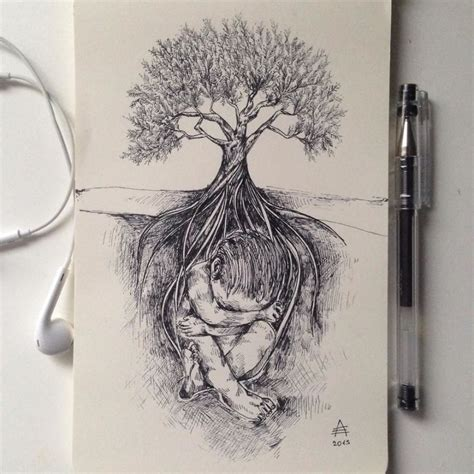 Artist Creates Amazing Nature Pictures with Just a Black Pen