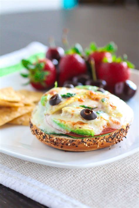 Garden Vegetable Bagel Melts (and A Giveaway!)   The Curvy