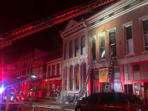 Building fire breaks out in downtown Greenfield, no