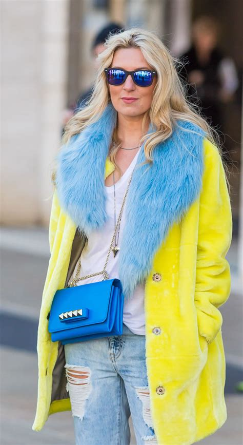 40+ Style inspiration: wearing color – 9 colorful outfits