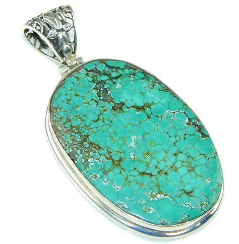 Large! Corrico Lake Green Turquoise Sterling Silver