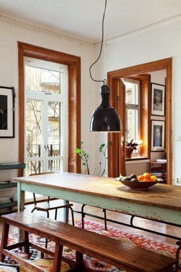 dining-area-white-walls-with-stained-wood-trim | Laurel Home