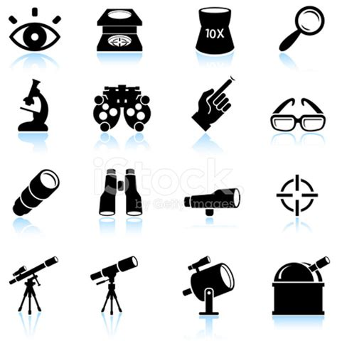 Optical Instruments Black and White Royalty Free Vector