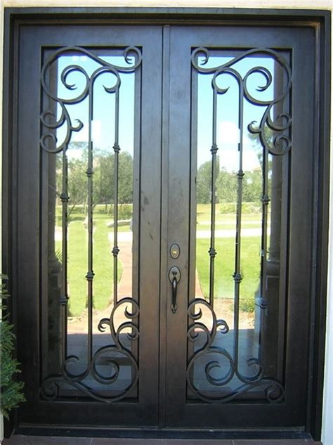 Finished wrought iron front doors for ROT 0208 iron doors