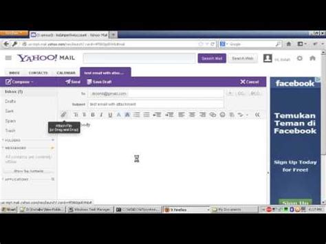 How To Send Email via Yahoo with File Attachment - YouTube
