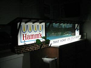 Large Vintage Hamms Beer Lighted Advertising Sign with