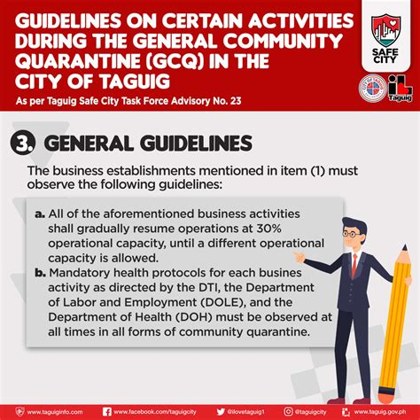 Guidelines on Certain Activities during the GCQ in the