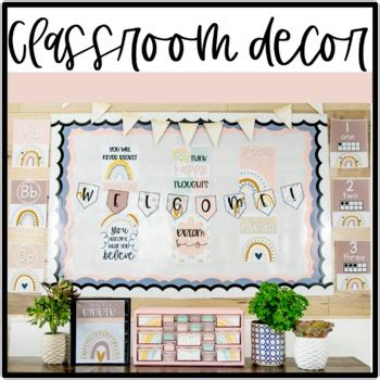 Neutral Rainbow Classroom Decor: BUNDLE by Learning with