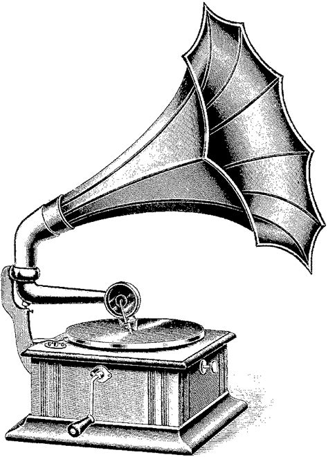 Old Record Player Drawing | Free download on ClipArtMag