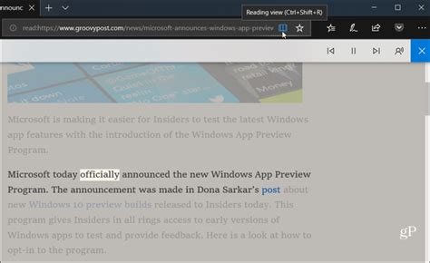How to Use the Read Aloud Feature in Microsoft Edge on