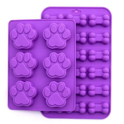 Puppy Dog Paw and Bone Silicone Mold, 2 Pack Set   Dragon