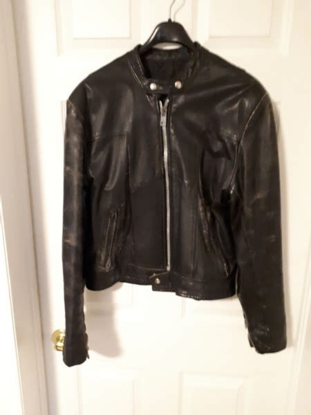 Leather Motorcycle Jacket Vintage Cafe Racer Style 60's