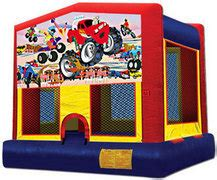 13x13 Bounce House with Monster Truck Panel rental San