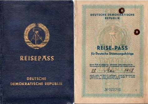 Military Histories - Travel Regulations for East German