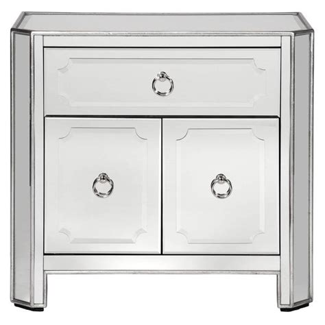 brand new z gallerie simplicity mirrored Nightstands for