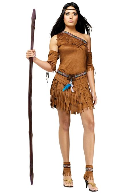 Womens Sexy Pow Wow Indian Costume - Sexy Costumes