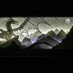 """""""Where Only Dragons Dare"""" 6x14"""" #dreambox #handcut layered"""