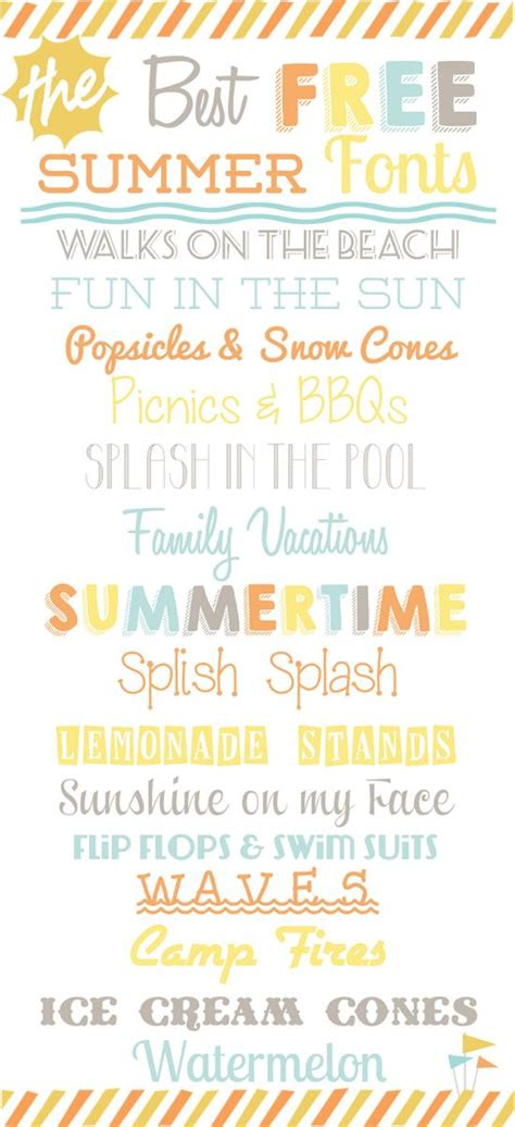15 Best FREE Summer Fonts • Food Folks and Fun