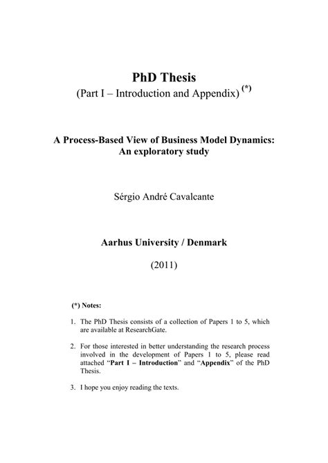 (PDF) PhD Thesis (Part I - Introduction and Appendix)
