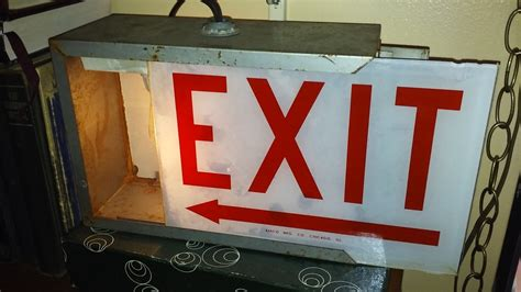 old ALKCO (?) lighted EXIT sign | Collectors Weekly